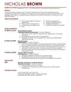 junior web developer resume - Junior Web Developer Resume