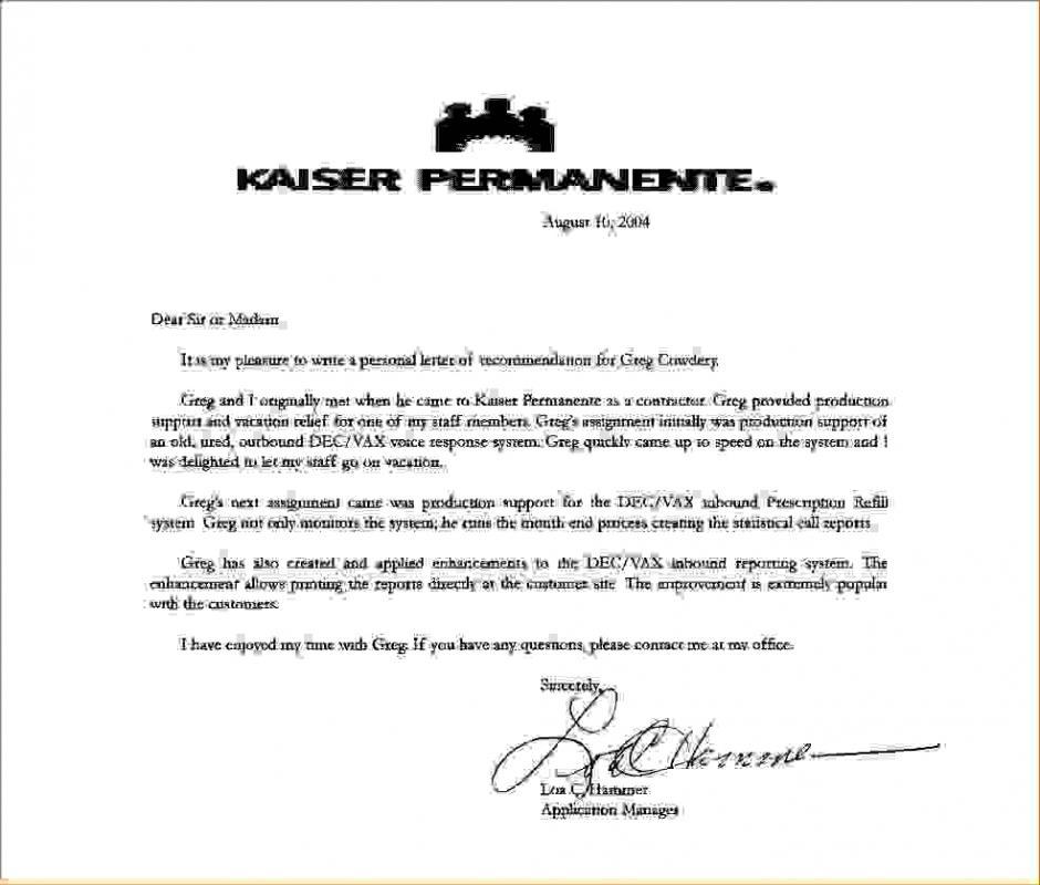 kaiser permanente doctors note