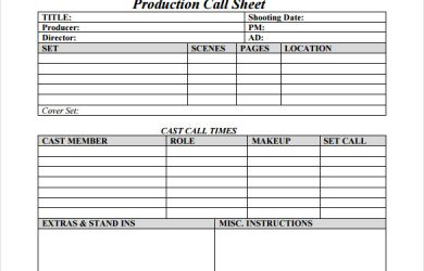 key sign out sheet production call sheet free pdf template download