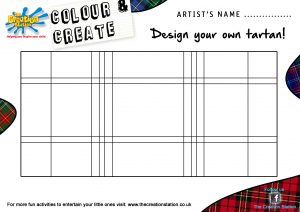 kids menu template design your own tartan