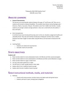 kindergarten lesson plan template lesson plan