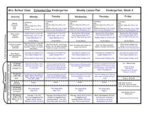 kindergarten lesson plan template lesson plans week amsm