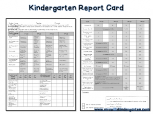 kindergarten report card template slide