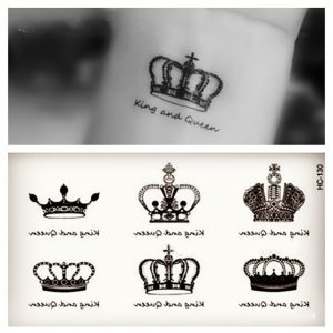 king crown template stücke kleine tattoo aufkleber wasserdichte frauen Übertragbare tatuagem aufkleber bunte krone weiblich tattoos großhandel jpg x