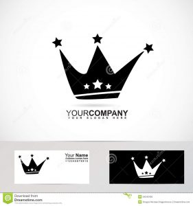 king crown template logo de couronne de roi noir et blanc