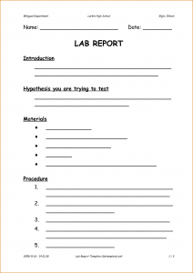 lab report template formal lab report template 31591495
