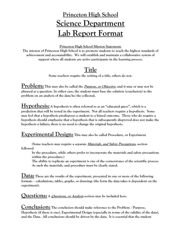 Lab Report Template Template Business