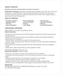 lab technician resume dental lab technician resume