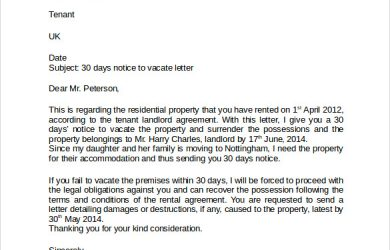 landlord letter to tenant regarding repairs example of day notice letter to landlord