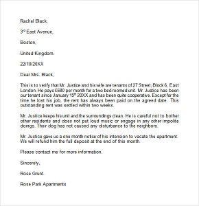 landlord reference letter landlord reference letter example