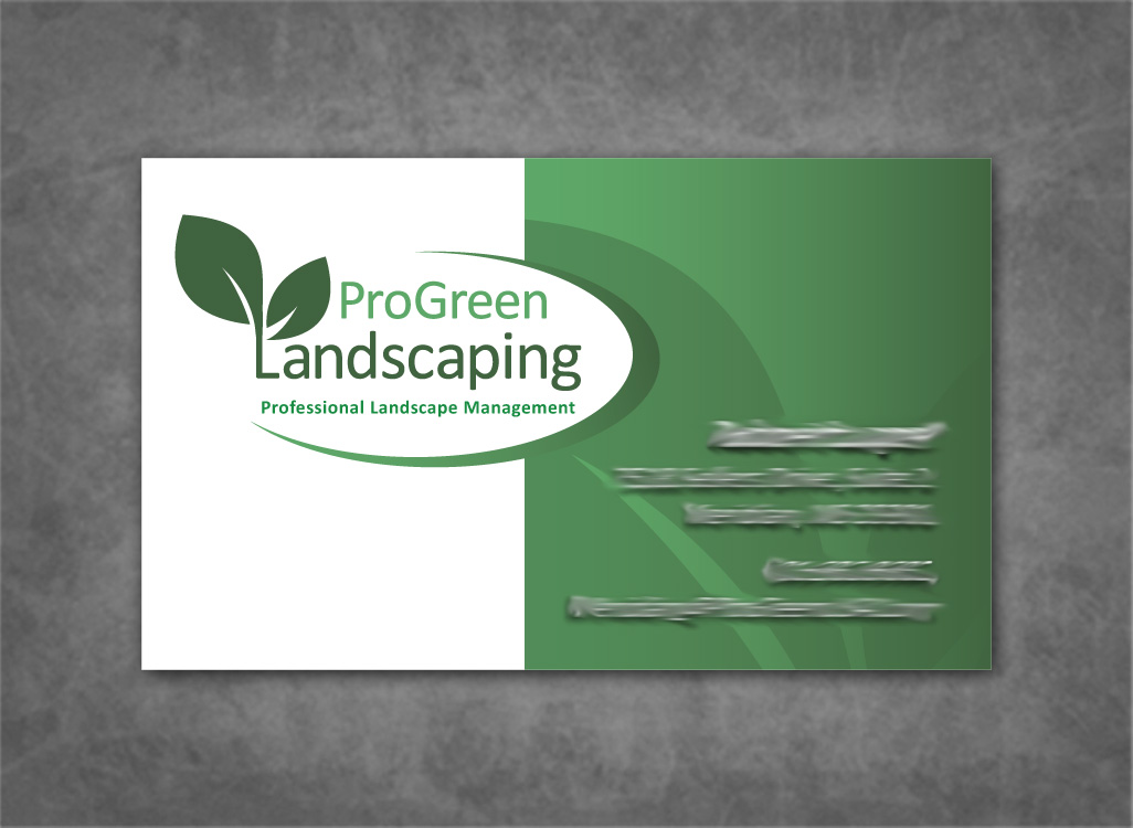 Professional landscaping business cards image collections for Landscaping business