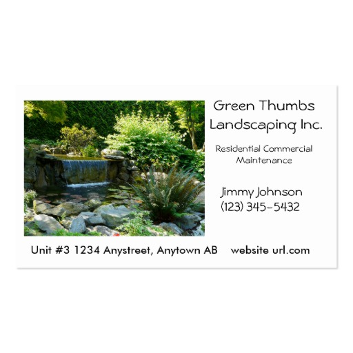 Landscaping business cards template business landscaping business cards accmission Choice Image