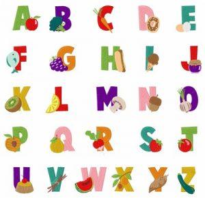 large alphabet letters hs