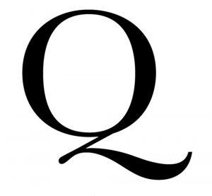 large alphabet letters large q