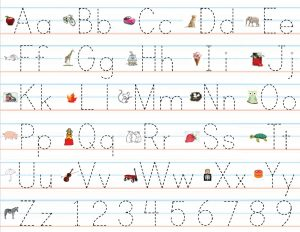 large alphabet letters practice writing alphabet preschool