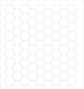 large grid paper hexagon graph paper printable