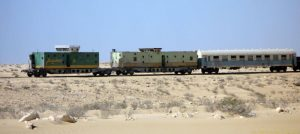 large postcard size nouadhibou train mine