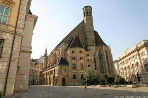 large postcard size wien minoritenkirche vue arriere