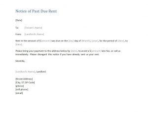 late rent notice late rent notice