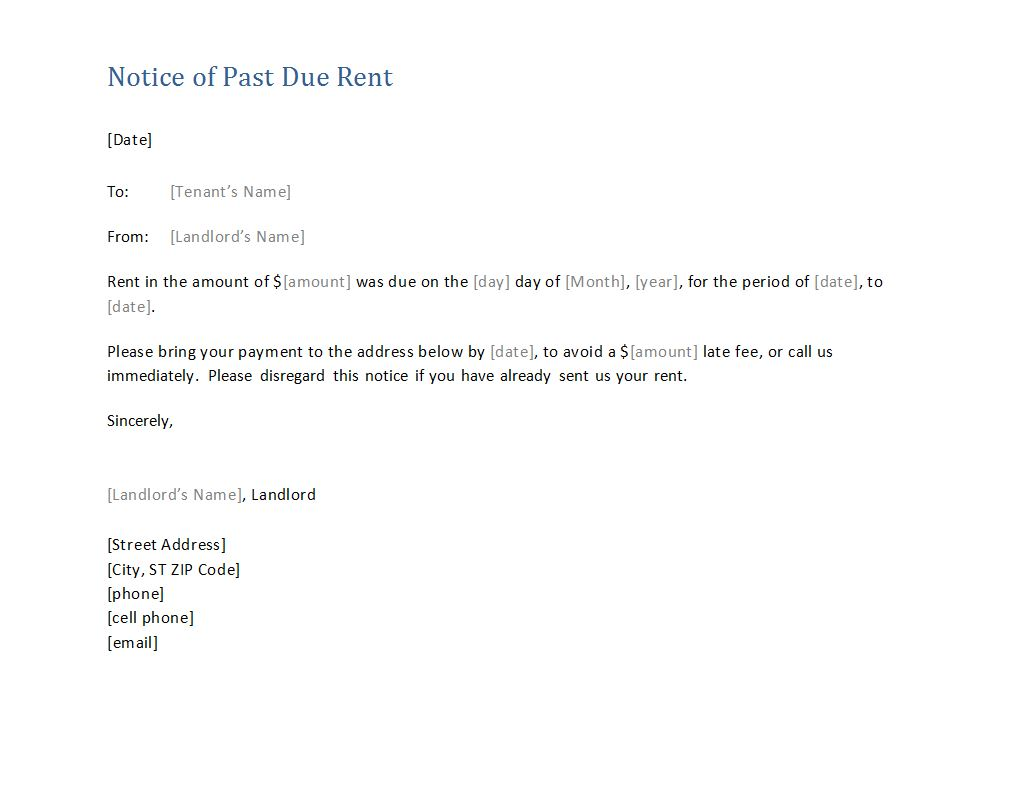 late rent notice