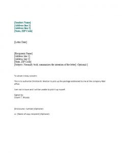 law firm letterhead authorization letter