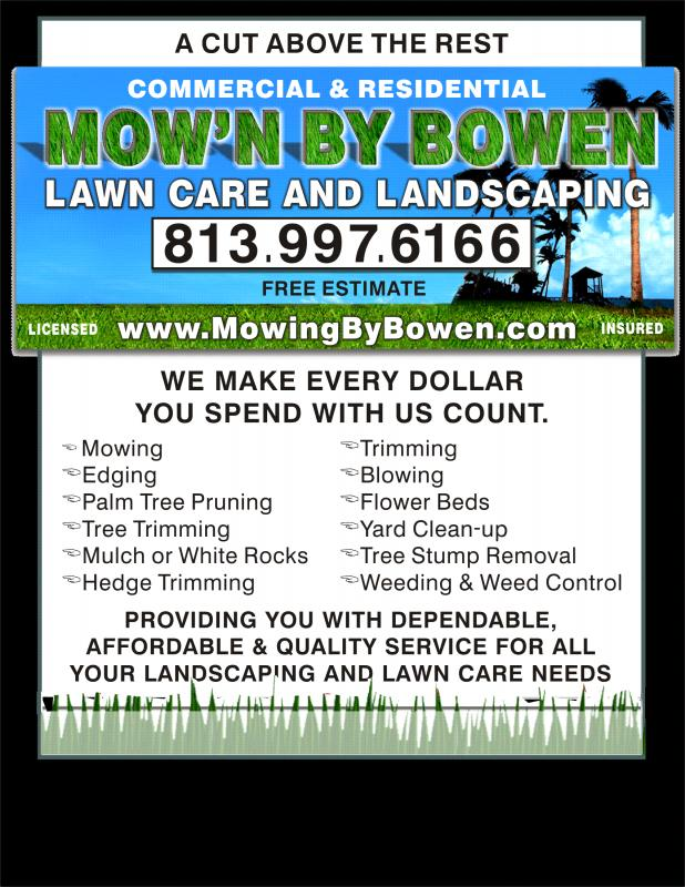 lawn care flyers