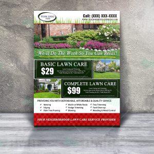 lawn care invoice lawn care flyer design product