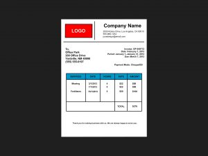 lawn care invoice make an invoice step