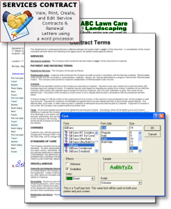 lawn maintenance contract landscape contractor software