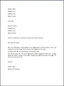 lay off letter layoff letter