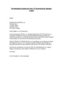 lay off letter letter of termination sample termination letter samples template