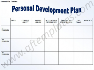 leadership development plan example personal development planning template best photos of my personal