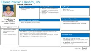 leadership development plan example talent profile template