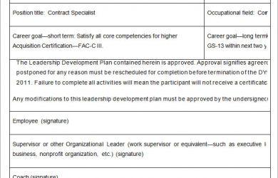 leadership development plan leadership development plan