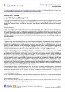 leadership essay example essay on leadership