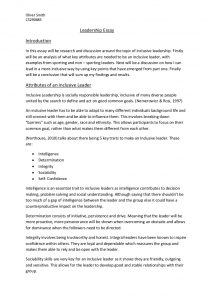 leadership essay example leadership essay