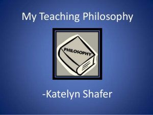 leadership philosophy examples my teaching philosophy