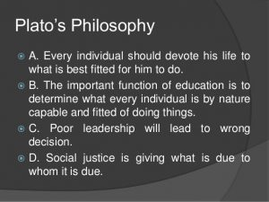 leadership philosophy examples platos philosophy in education
