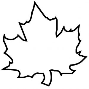leaf template printable leaf template