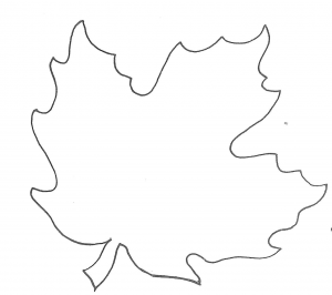 leaf template printable maple leaf