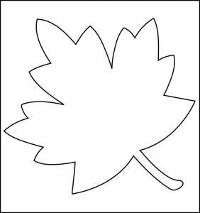 leaf template printable printable stencils free