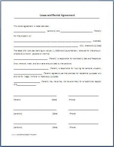 lease abstract template lease agreement template