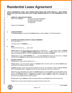 Lease Agreement Pdf Template Business - Lease agreement templates