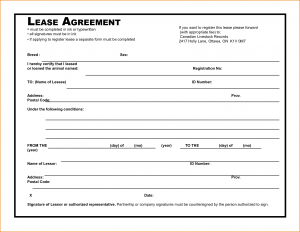 lease agreement template pdf simple rental agreement template