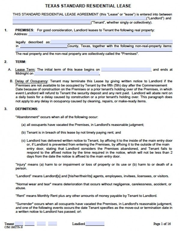 Lease Agreement Template Word  Agreement Template Word
