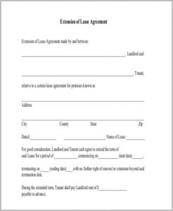 lease renewal agreement lease renewal agreement form