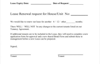 lease renewal agreement lease renewal form