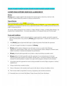 lease renewal form computer maintenance contract sample