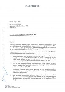 lease renewal form non renewal of lease letter page