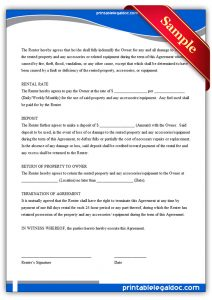 lease renewal form rental agreement generic